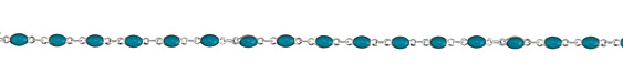 Zola Elements Peacock Oval Link Silver Finish Chain
