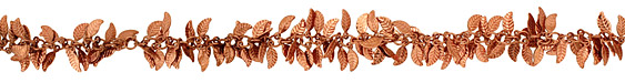 Copper (plated) Falling Leaves Chain