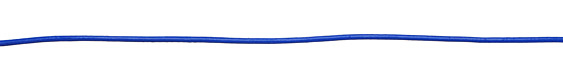 Blue Round Leather Cord 2mm