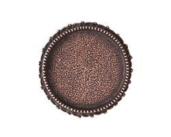 Nunn Design Antique Copper (plated) Circle Ornate Grande Brooch 39mm