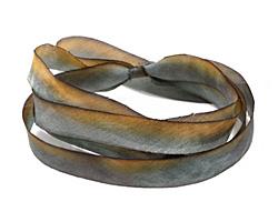 "Blue Rice Hand Dyed 100% Silk Ribbon 7/16"""