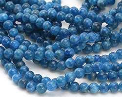Pacific Blue Apatite (A) Round 5-6mm