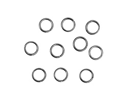 Gunmetal Round Jump Ring 8mm, 18 gauge
