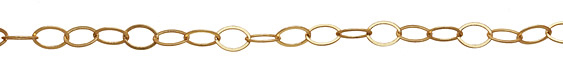 Satin Hamilton Gold (plated) Flat Oval Chain