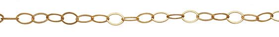 Satin Hamilton Gold (plated) Flat Oval Chain