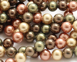 Harvest Shell Pearl Mix Round 6mm