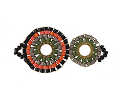 Retro Groove Hand Woven Double Halo 34x16mm