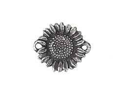 Green Girl Pewter Sunflower Link 30x21mm