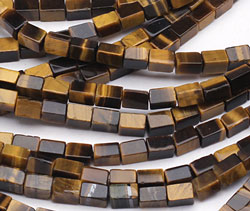 Tiger Eye Rectangle 6-7x4mm