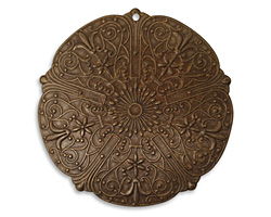 Vintaj Natural Brass Rhapsody Medallion Pendant 47mm