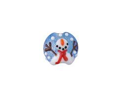 Grace Lampwork Juggling Snowman Lentil 15x13mm
