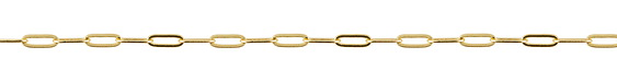 Hamilton Gold (plated) Flat Paperclip Chain