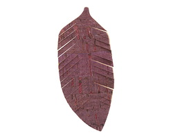 Mulberry Wine Cork Feather Focal 32x75mm