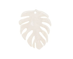 Zola Elements Pearl Acetate Monstera Leaf Focal 31x38mm