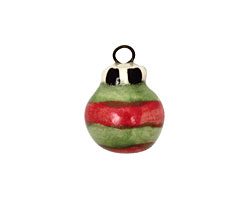 Jangles Ceramic Green Ornament Charm 14x19mm