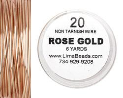 Parawire Rose Gold 20 gauge, 6 yards