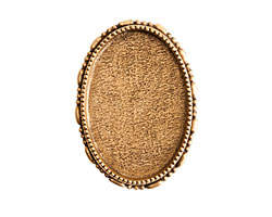 Nunn Design Antique Gold (plated) Oval Ornate Grande Brooch 32x45mm