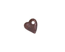 Greek Bronze (plated) Small Angled Heart Drop 10mm