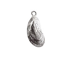 Nunn Design Sterling Silver (plated) Mussel Charm 11x26mm
