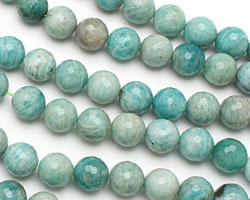 Brazil Amazonite Faceted Round 14mm