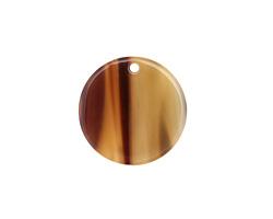 Zola Elements Brown Sugar Acetate Coin Focal 20mm