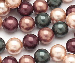 Cordial Shell Pearl Mix Round 12mm