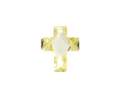 Jonquil Faceted Cross 10x12mm