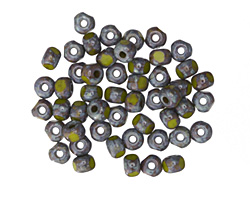 Czech Glass Avocado Picasso Trica Beads 2.5x4mm