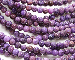 Purple Crazy Lace Agate Round 6mm