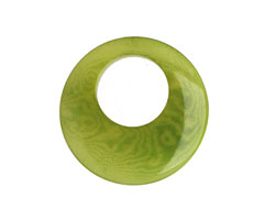Tagua Nut Apple Gypsy Hoop 25mm
