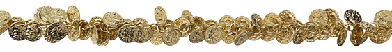 Gold (plated) Coin Chain