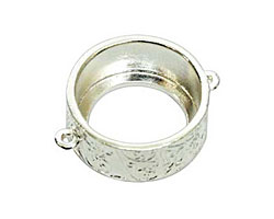 Nunn Design Sterling Silver (plated) Large Pendant Circle Open Link 30x24mm