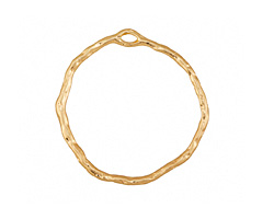 Zola Elements Matte Gold Finish Organic Circle Pendant 34mm