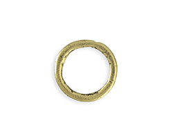 Vintaj Antique Brass (plated) Heavy Hammered Ring 23mm