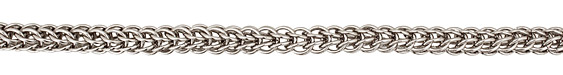 Silver (plated) Interlocking Ring Chain