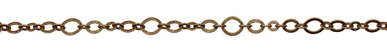 Antique Brass (plated) Horse Eye & Flat Oval Chain