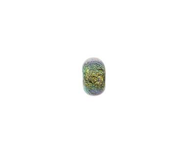 Grace Lampwork Aloe Dichroic Rondelle 5x10mm