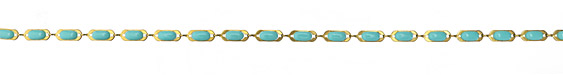 Zola Elements Turquoise Open Oblong Bar Brass Chain