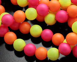 Neon Shell Pearl Mix Round 6mm