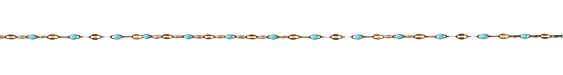 Zola Elements Aqua Pressed Drawn Cable Brass Chain
