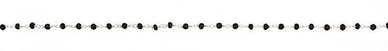 Spinel Faceted Rondelle Silver (plated) Bead Chain