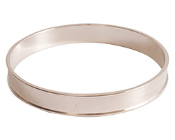 Nunn Design Sterling Silver (plated) Channel Bangle Bracelet 70mm