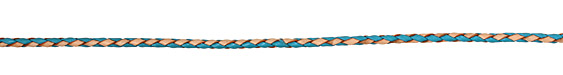 Turquoise/Natural Braided Leather Bolo Cord 3mm