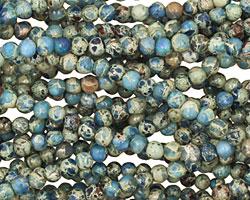 Denim Blue Impression Jasper Round 3.5-4mm