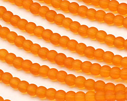 Saffron Yellow Recycled Glass Round 4mm