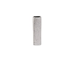 Zola Elements Antique Silver (plated) Smooth Squared End 3mm Flat Cord Tip 5x18mm