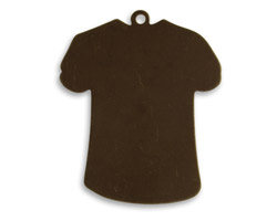 Vintaj Natural Brass T-Shirt Altered Blank 27x33mm