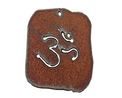 The Lipstick Ranch Rusted Iron Ohm Dog Tag 42x50mm