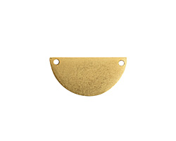 Nunn Design Antique Gold (plated) Flat Half Circle Tag 28x14mm