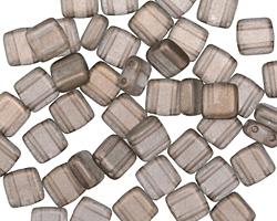CzechMates Glass Halo Ash 2-Hole Tile 6mm